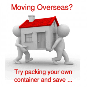 Moving overseas? Use our self pack containers.